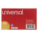 UNIVERSAL PRODUCTS UNV47200 Unruled Index Cards, 3 X 5, White, 100/pack