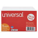 UNIVERSAL PRODUCTS UNV47205 Unruled Index Cards, 3 X 5, White, 500/pack