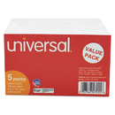 UNIVERSAL PRODUCTS UNV47215 Ruled Index Cards, 3 X 5, White, 500/pack