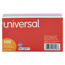 UNIVERSAL PRODUCTS UNV47216 Index Cards, 3 X 5, Blue/violet/green/cherry/canary, 100/pack