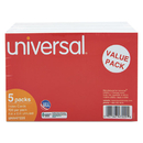 UNIVERSAL PRODUCTS UNV47225 Unruled Index Cards, 4 X 6, White, 500/pack