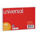 UNIVERSAL PRODUCTS UNV47230 Ruled Index Cards, 4 X 6, White, 100/pack