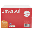 UNIVERSAL PRODUCTS UNV47235 Ruled Index Cards, 4 X 6, White, 500/pack