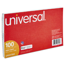 UNIVERSAL PRODUCTS UNV47250 Ruled Index Cards, 5 X 8, White, 100/pack