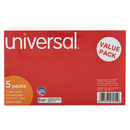 UNIVERSAL PRODUCTS UNV47255 Ruled Index Cards, 5 X 8, White, 500/pack