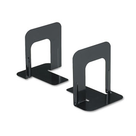 Economy Bookends, Nonskid, 4 3/4 X 5 1/4 X 5, Heavy Gauge Steel, Black, Price/PR