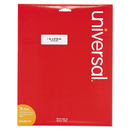 UNIVERSAL PRODUCTS UNV80101 Laser Printer Permanent Labels, 1 X 2 5/8, White, 750/pack
