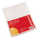 UNIVERSAL PRODUCTS UNV81525 Project Folders, Jacket, Poly, Letter, Clear, 25/pack
