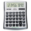 Victor VCT11003A 1100-3a Antimicrobial Compact Desktop Calculator, 10-Digit Lcd