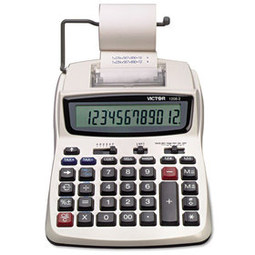 1208-2 Two-Color Compact Printing Calculator, 12-Digit Lcd, Black/Red, Price/EA