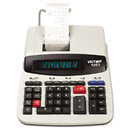 VICTOR TECHNOLOGIES VCT1297 1297 Two-Color Commercial Printing Calculator, Black/red Print, 4 Lines/sec