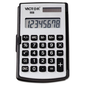 VICTOR TECHNOLOGIES VCT908 908 Portable Pocket/Handheld Calculator, 8-Digit LCD