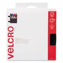VELCRO USA, INC. VEK90081 Sticky-Back Hook And Loop Fastener Tape With Dispenser, 3/4 X 15 Ft. Roll, Black
