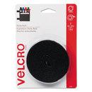 VELCRO USA, INC. VEK90086 Sticky-Back Hook And Loop Fastener Tape With Dispenser, 3/4 X 5 Ft. Roll, Black