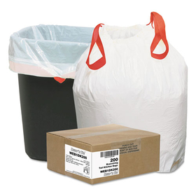 Heavy-Duty Trash Bags, 13Gal, .9Mil, 24.5 X 27 3/8, White, 200/Box, Price/BX
