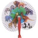 US TOY 1762 Animal Print Folding Fans