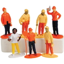 US TOY 2466 Construction Worker Toy Figures