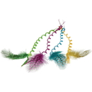 US TOY 4329 Curly Hair Pieces with Feather