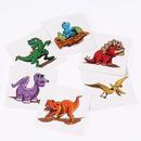 US TOY 635 Dinosaur Temporary Tattoos
