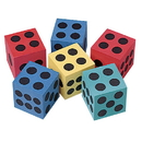US TOY 7202 Foam Dice / 2.5 in.