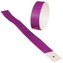 US TOY C18-05 Event Wristbands, Purple - 100 pc