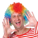 US TOY FA38 Rainbow Afro Costume Clown Wig