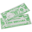 US TOY GA18-1000 1000 Pack of Play Money Bills - $1000 Bills