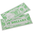 US TOY GA18-10 1000 Pack of Play Money Bills - $10 Bills