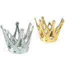 US TOY H439 Miniature Metallic Party Crowns with Elastic Chin Strap