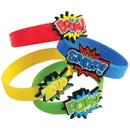 US TOY JA833 Superhero Rubber Bracelets