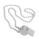US TOY KD29-11 White Bead Necklaces With Whistles