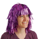 US TOY KD38-05 Purple Tinsel Foil Party Wig