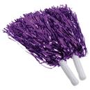 US TOY KD45-05 Purple Metallic Pom Poms