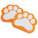 US TOY KD47-09 Pawprint Memo Pads, Orange