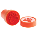 US TOY KD48-09 Pawprint Stampers, Orange - 6 Pieces