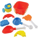US TOY MX329 Sand Castle Bucket Set / 8-Pc
