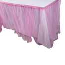 US TOY NP308 Pink Tulle Table Skirt