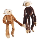 US TOY SB364 Plush Natural Colored Hanging Monkeys