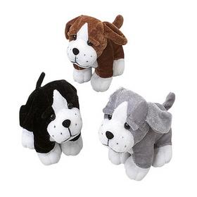 US TOY SB369 Sitting Dogs Stuffed Animals