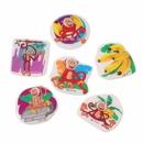US TOY VL120 Monkey Puffy Stickers/72-Pc