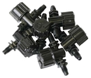 Two Little Fishies TL54702 Airline Hose Micro Ball Valves, Thread x Thread, 6-Pack