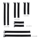 Aspire Wholesale Cable Management Straps With Plastic Buckle End, Assorted 5 Sizes
