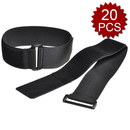 Aspire 19.7 inch Velcro Type Cable Ties For Cable Management, 20 Pcs, Black