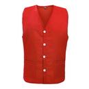 TopTie Unisex Button Front Apron Vest, Uniform Vest With Waist Pockets