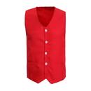 TopTie Front Button Vest with Pockets, Unisex Volunteer Activity Vest