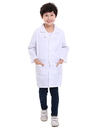 TopTie Kids White Lab Coats Child Costume for Scientists or Doctors, 2 Pockets
