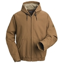 Bulwark JLH4BD Brown Duck Hooded Jacket W/ Lanyard Access - Jlh4 - Brown Duck