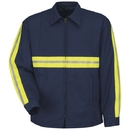 Red Kap JT50EN Enahanced Visibility Perma-Lined Jacket, Navy