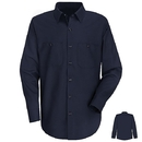 Red Kap SC30 Long Sleeve Wrinkle-Resistant Cotton Work Shirt