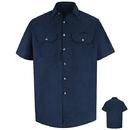 Red Kap SH20 Short Sleeve Heathered Poplin Uniform Shirt